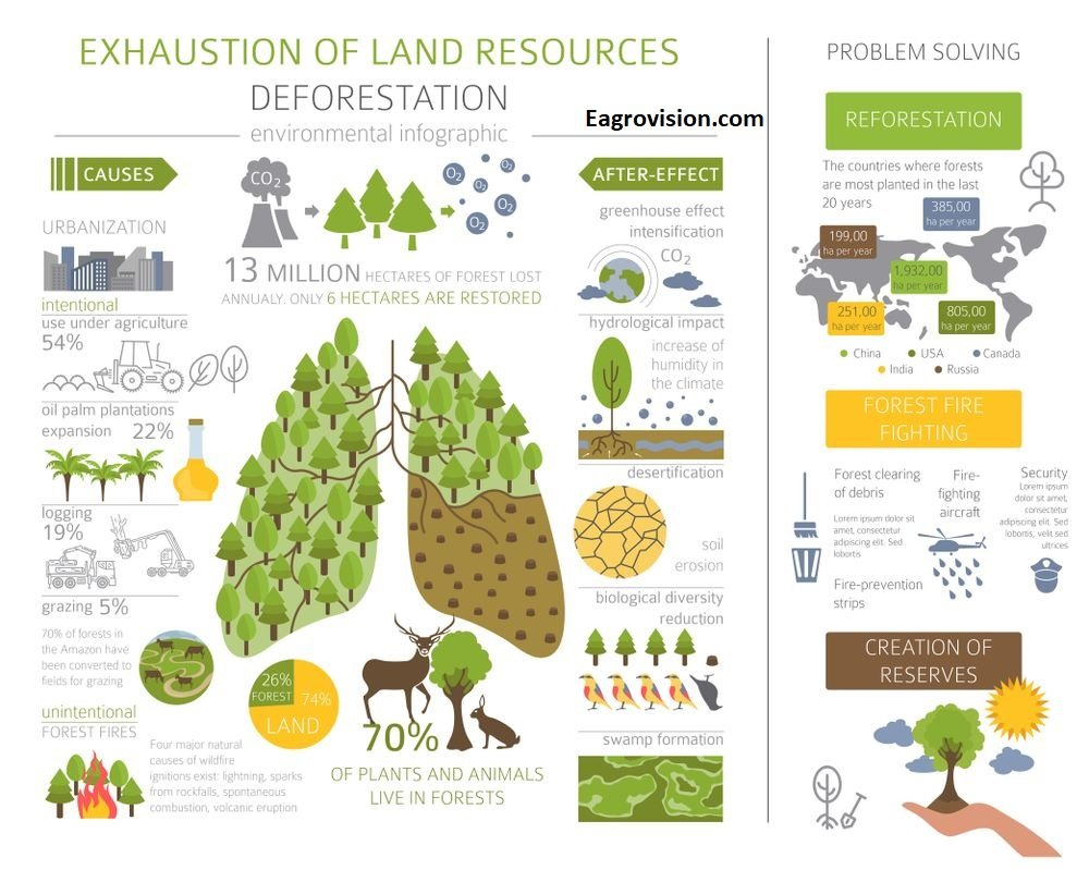 Exhaustion of land resources
